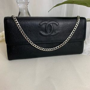 Chanel wallet with chain added